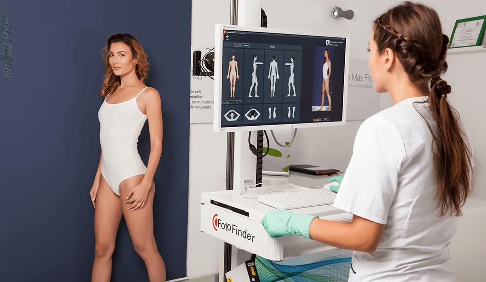 Analiza pielii cu ajutorul tehnologiei laser FotoFinder. Investigatii dermatologice complete realizate cu tehnologia laser.